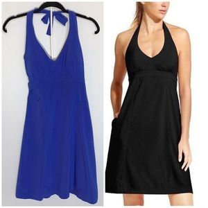 Athleta Royal Blue Lightweight Halter Dress